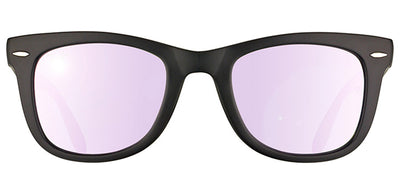 Ray-Ban RB 4105 601S4K Wayfarer Plastic Black Sunglasses with Lilac Mirror Lens