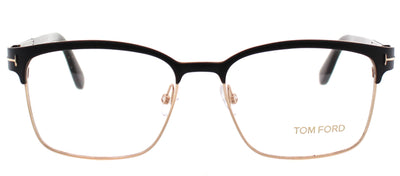 Tom Ford FT 5323 002 Square Plastic Black Eyeglasses with Demo Lens