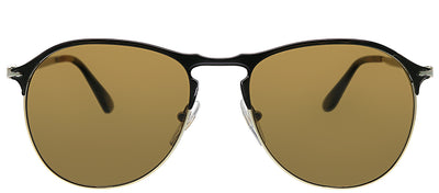 Persol PO 7649S 107057 Aviator Metal Gold Sunglasses with Brown Lens