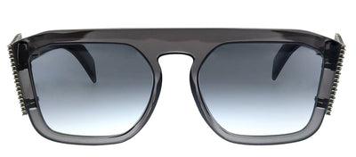 Fendi FF 0381/S KB7 Square Plastic Grey Sunglasses with Grey Gradient Lens