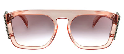 Fendi FF 0381/S 35J Square Plastic Pink Sunglasses with Pink Gradient Lens