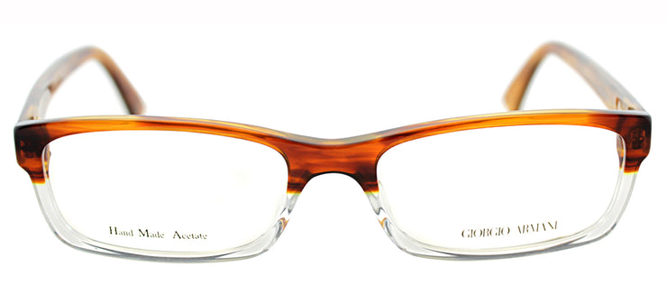 Giorgio Armani GA 765 EID Rectangle Metal Tortoise/ Havana Eyeglasses with Demo Lens