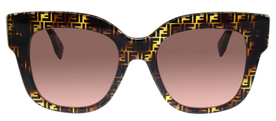 Fendi FF 0359/G/S H7P Square Plastic Tortoise Sunglasses with Pink Lens