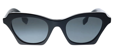 Burberry BE 4283 300187 Square Plastic Black Sunglasses with Grey Lens