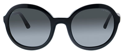 Prada PR 09VS 1AB5S0 Oval Plastic Black Sunglasses with Grey Lens