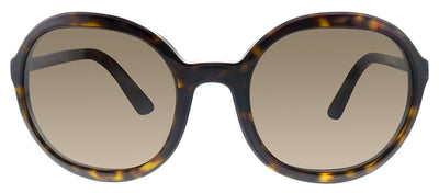 Prada PR 09VS 2AU8C1 Oval Plastic Havana Sunglasses with Brown Lens