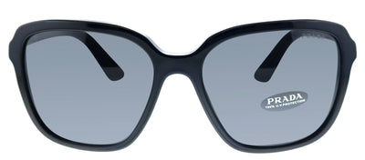 Prada PR 10VS 1AB5S0 Square Plastic Black Sunglasses with Gey Lens