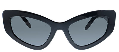 Prada PR 11VS 1AB5S0 Cat-Eye Plastic Black Sunglasses with Grey Lens