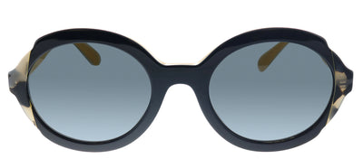 Prada PR 17US CCO1A1 Oval Plastic Havana Sunglasses with Grey Lens