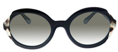 Prada PR 17US KHR0A7 Oval Plastic Black Sunglasses with Grey Gradient Lens