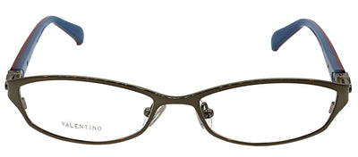 Valentino VL 5591 NJS Rectangle Metal Silver Eyeglasses with Demo Lens
