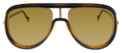 Fendi FF M0068/S 086 Pilot Metal Havana Sunglasses with Brown Lens