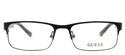 Guess GU 1731 BLKGUN Rectangle Metal Black Eyeglasses with Demo Lens