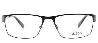 Guess GU 1770 GUN Rectangle Metal Ruthenium/ Gunmetal Eyeglasses with Demo Lens