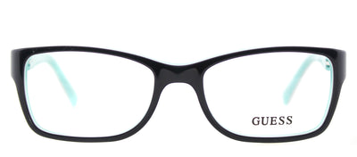 Guess GU 2406 BLGRN Cat-Eye Plastic Black Eyeglasses with Demo Lens