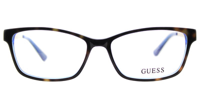 Guess GU 2538 052 Cat-Eye Plastic Tortoise/ Havana Eyeglasses with Demo Lens