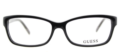 Guess GU 2542 001 Cat-Eye Plastic Black Eyeglasses with Demo Lens
