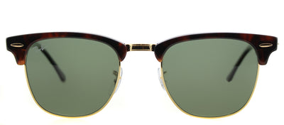 Ray-Ban RB 3016 990/58 Clubmaster Plastic Tortoise/ Havana Sunglasses with Green Polarized Lens