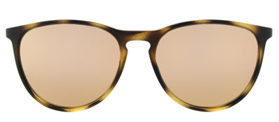 Ray-Ban Junior RJ 9060S 70062Y Round Plastic Tortoise/ Havana Sunglasses with Pink Mirror Lens