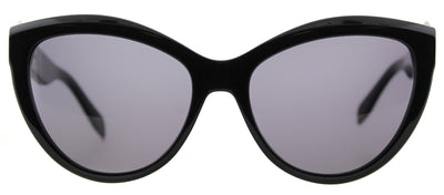 Alexander McQueen AM 0003S 001 Cat-Eye Plastic Black Sunglasses with Grey Lens