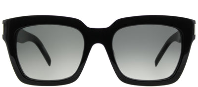 Saint Laurent SL Bold1 001 Rectangle Plastic Black Sunglasses with Grey Gradient Lens