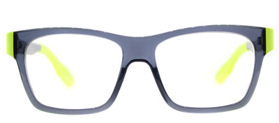 McQ MQ 0015O 003 Rectangle Plastic Grey Eyeglasses with Demo Lens