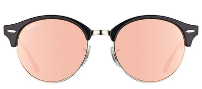 Ray-Ban RB 4246 1197Z2 Clubmaster Plastic Black Sunglasses with Pink Mirror Lens