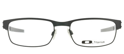 Oakley Metal Plate OX 5038 05 Rectangle Metal Black Eyeglasses with Demo Lens