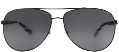 Prada Sport PS 51OS 1BO1A1 Fashion Metal Black Sunglasses with Grey Lens