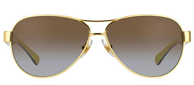 Ralph by Ralph Lauren RA 4096 106/T5 Aviator Metal Gold Sunglasses with Brown Gradient Polarized Lens