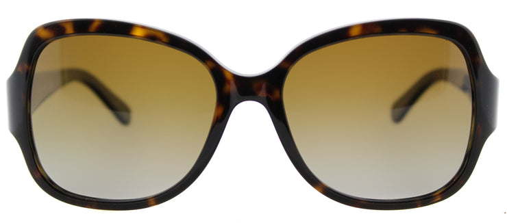 Tory Burch TY 7059 1378T5 Square Plastic Tortoise/ Havana Sunglasses with Brown Gradient Lens