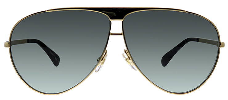 Givenchy GV 7128 J5G 9O Aviator Metal Gold Sunglasses with Grey Gradient Lens