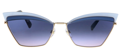 Valentino VA 2029 3004I6 Cat-Eye Metal Blue Sunglasses with Blue Gradient Lens