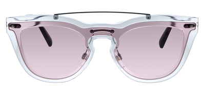 Valentino VA 4008 502484 Cat-Eye Plastic Clear Sunglasses with Pink Lens