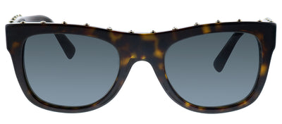 Valentino VA 4023 500287 Square Plastic Havana Sunglasses with Grey Lens