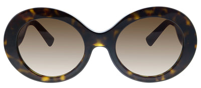Valentino VA 4058 500213 Oval Plastic Havana Sunglasses with Brown Gradient Lens