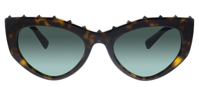 Valentino VA 4060 500271 Cat-Eye Plastic Black Sunglasses with Green Lens