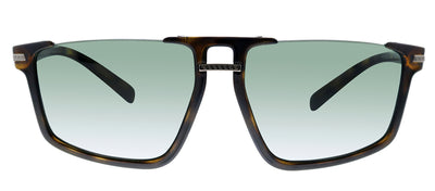 Versace VE 4363 108/71 Square Plastic Havana Sunglasses with Green Lens