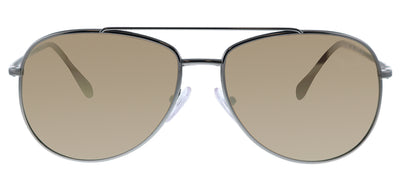 Prada Linea Rossa PS 55US 5AVHD0 Aviator Metal Ruthenium/ Gunmetal Sunglasses with Brown Mirror Lens