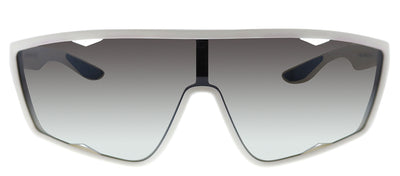 Prada Linea Rossa PS 09US TWK5O0 Cat-Eye Plastic Ivory/ White Sunglasses with Silver Mirror Lens