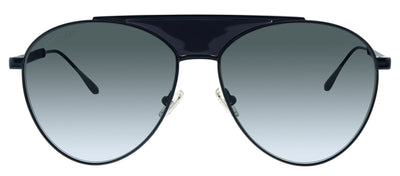 Jimmy Choo JC Ave 807 9O Aviator Metal Black Sunglasses with Grey Lens