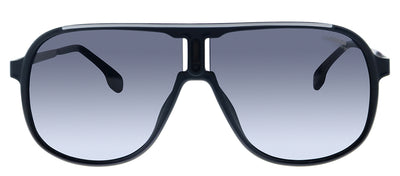 Carrera CA Carrera1007 003 9O Rectangle Plastic Black Sunglasses with Grey Gradient Lens