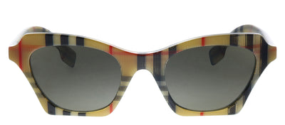 Burberry BE 4283 3778/3 Square Plastic Multicolor Sunglasses with Brown Lens