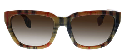 Burberry BE 4277 377813 Square Plastic Multicolor Sunglasses with Brown Gradient Lens