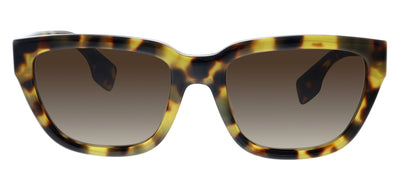 Burberry BE 4277 375913 Square Plastic Tortoise/ Havana Sunglasses with Brown Gradient Lens