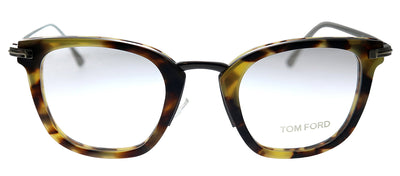 Tom Ford FT 5496 056 Square Metal Eyeglasses Tortoise Eyeglasses with Demo Lens
