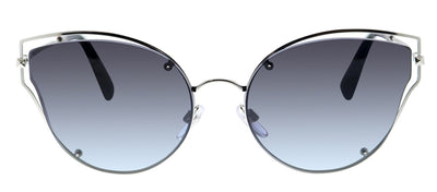 Valentino VA 2015 30068G Cat-Eye Metal Silver Sunglasses with Grey Gradient Lens