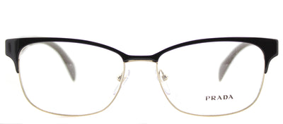 Prada PR 65RV DHO1O1 Rectangle Metal Brown Eyeglasses with Demo Lens