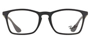 Ray-Ban RX 7045 5364 Rectangle Plastic Black Eyeglasses with Demo Lens