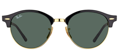 Ray-Ban RB 4246 901 Clubmaster Plastic Black Sunglasses with Green Lens
